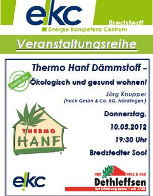 Infoabend im Bredstedter Sool: Hanf als Dämmstoff- ökologisch und gesund wohnen!
