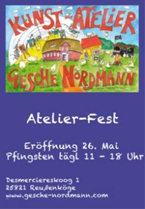 Pfingsten: Atelier-Fest im Kunstatelier von Gesche Nordmann – Bertha kommt auch