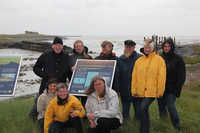 Nationalpark-Infoelemente auf den Halligen Langeneß und Oland installiert