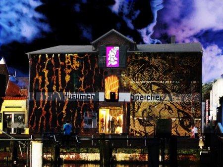 Speicher Husum: Grenzgänger Multimedia-Installation im Rahmen der 10. Husumer Kulturnacht