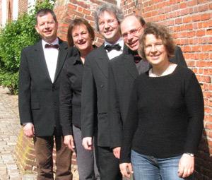Gesangsensemble Soloquinto zum Sommerkonzert in der St. Marienkirche in Husum