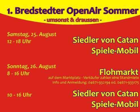 Das Catan-Spiele-Mobil zu Gast in Bredstedt