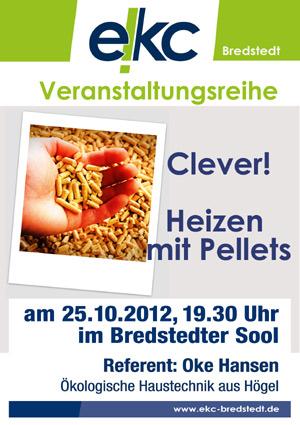 Vortrag im Bredstedter Sool: Clever heizen mit Pellets
