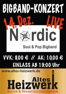 Nordic Soul & Pop Bigband live im Alten Heizwerk Bredstedt