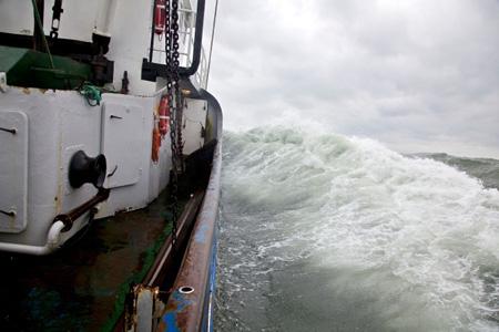 Fotoausstellung in Tönning: Wilfried Dunckel zeigt die Krabbenfischerei bei Windstärke  8