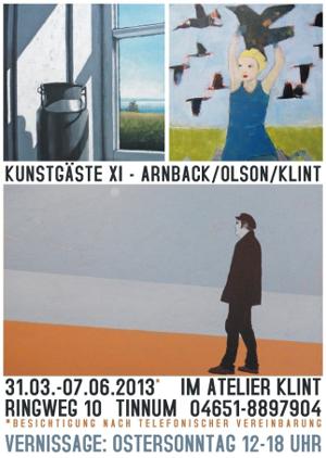 Schwedische Kunstgäste im Atelier Klint auf Sylt
