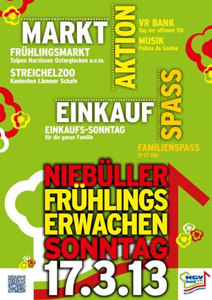 Nur nicht aufgeben! Am 17. März Frühlingserwachen in Niebüll – Verkaufsoffener Sonntag