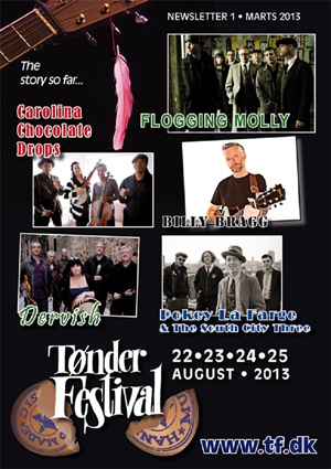 Tonder-Festival 2013 veröffentlicht die ersten Künstler