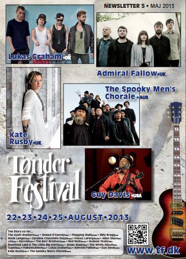 Ja super!  Lukas Graham und Bluesspezialist Guy Davis beim Tønder Festival 2013