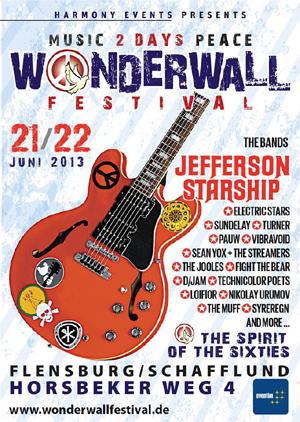 Geht los! Wonderwall Festival mit Jefferson Starship in Schafflund