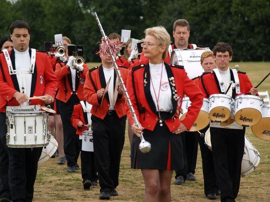 Aufmarsch der Spielmannszüge: 11. Internationales Musikfest in Hattstedt
