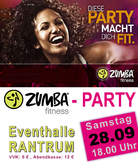 ZUMBA® PARTY in der Eventhalle Rantrum – Das Fitness-Party