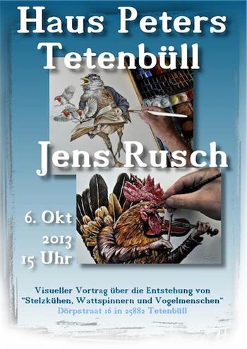 Visueller Vortrag von Jens Rusch im Haus Peters Tetenbüll
