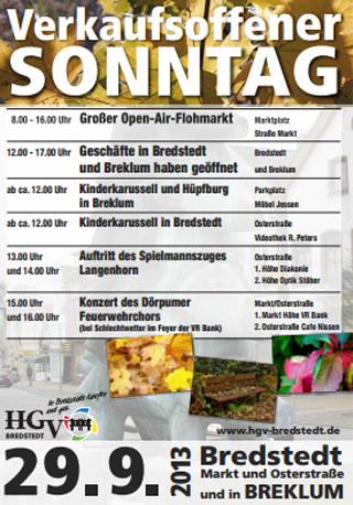 Verkaufsoffener Sonntag in Bredstedt