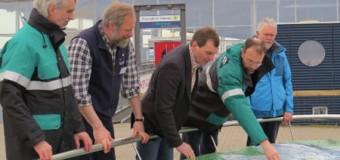 Exakt gearbeitet: das neue Nationalpark-Relief am Nationalpark-Zentrum Multimar Wattforum