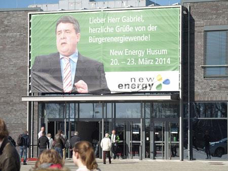 Fotos der New Energy Husum 2014 – Energiewende von unten, Frau Merkel?