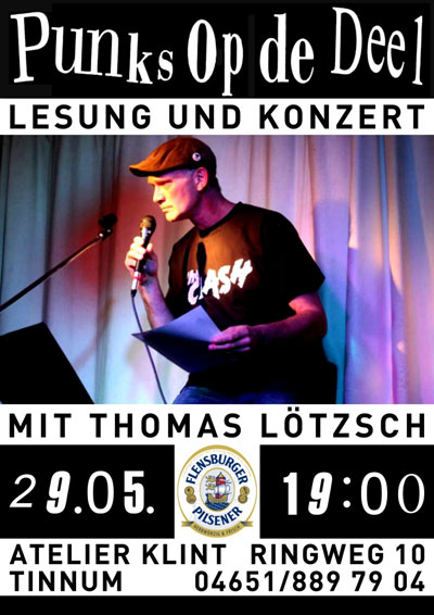 Punks op de Deel im Atelier Klint – Thomas Lötzsch liest vor und singt
