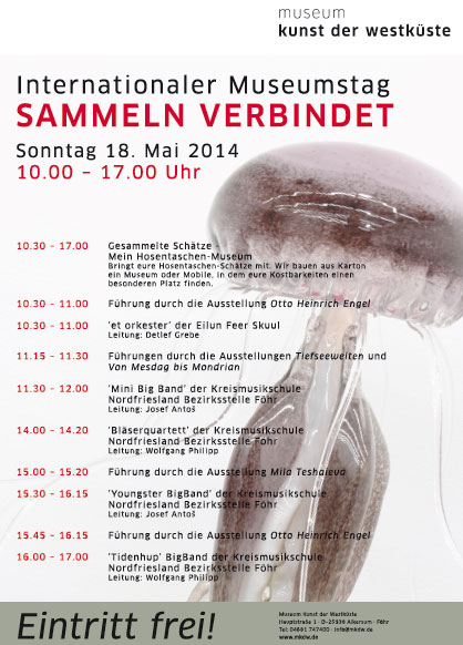 MUSEUM KUNST DER WESTKÜSTE Föhr  – Programm am INTERNATIONALEN MUSEUMSTAG 2014