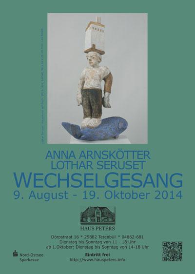 """Lothar Seruset und Anna Arnskötter zu Gast im Haus Peters: """"wechselgesang"""" zeigen Grafiken, Skulpturen und Reliefs"""
