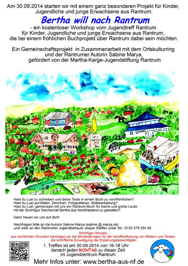 Workshop und Buchprojekt in Rantrum – Bist du dabei???