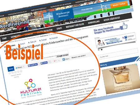 Sie möchten regionale Werbung im Internet, ohne geblockt zu werden? - Nordfriesland