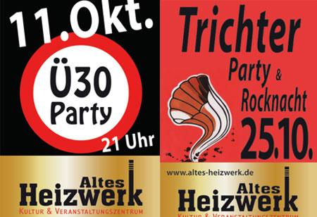 Oktober Partys im Alten Heizwerk Bredstedt