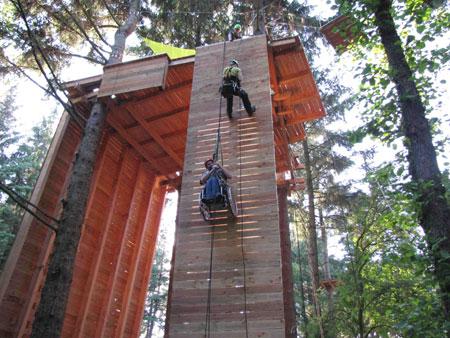 """Perspektivenwechsel"""" – Inklusionsprogramm der Jugendherberge Niebüll mit dem Klettergarten Filu"""