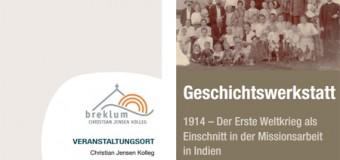 Geschichtswerkstatt in Breklum beschäftigt sich mit dem Einschnitt des Ersten Weltkriegs