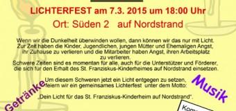 Willkommen beim Lichterfest!  – Dein Licht für das St. Franziskus-Kinderheim
