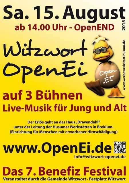 Mitte August ist es wieder soweit: OPEN-EI – das Benefiz-Musikfestival in Witzwort