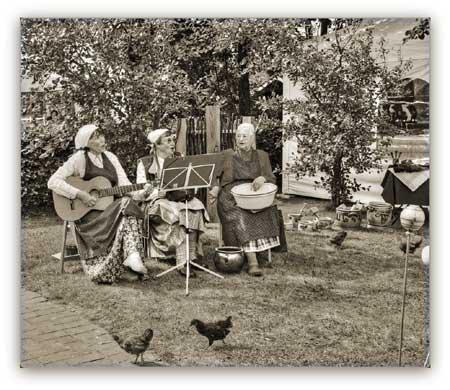 Musik und Lesung mit dem Eiderstedter Landfrauentrio im Haus Peters