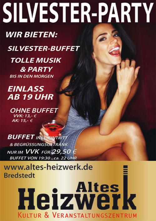 Die große Silvester-Party im Alten Heizwerk Bredstedt