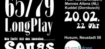 Die wohl ungewöhnlichste Party in Husum: 65/79 LongPlay Party im Sturm & Drang