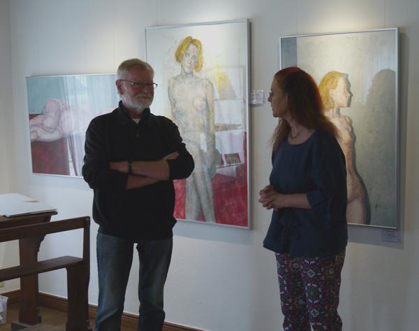 Vorstellung der Ausstellung mit Werken von Erhard Göttlicher im Haus Peters, Tetenbüll