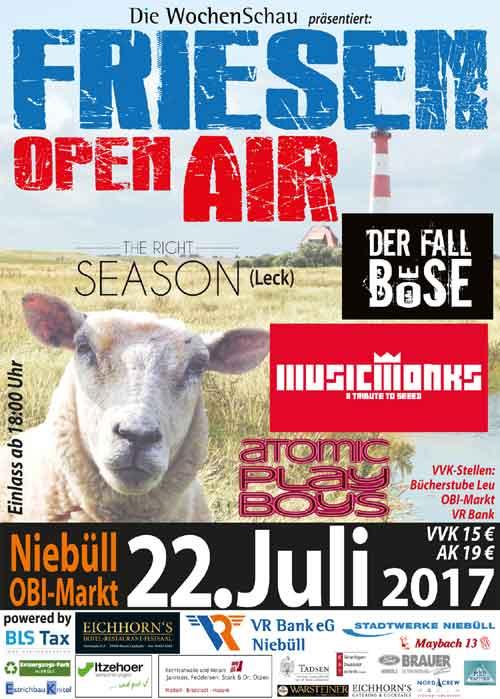 Friesen Open Air in Niebüll dritte Runde im Juli