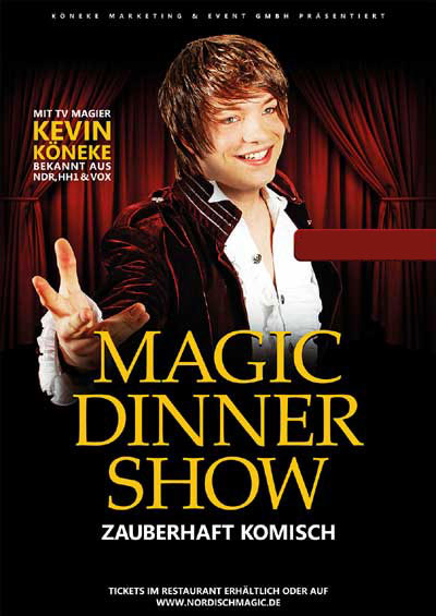 Magic Dinner Show mit Kevin Köneke in der Westermöhl, Langenhorn